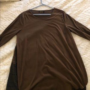 Reborn Dresses - Long Sleeve T-Shirt Dress w/ flower pattern